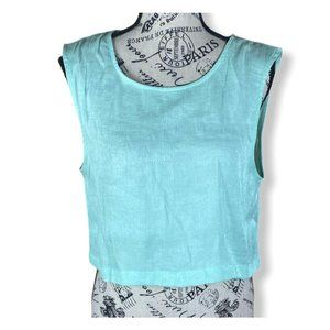 Onia Cropped Teal tank top- M